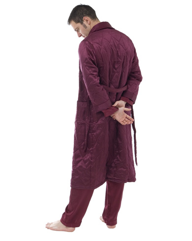 Quilted Silk Dressing Gown Men Nightwear Dressing Gowns The