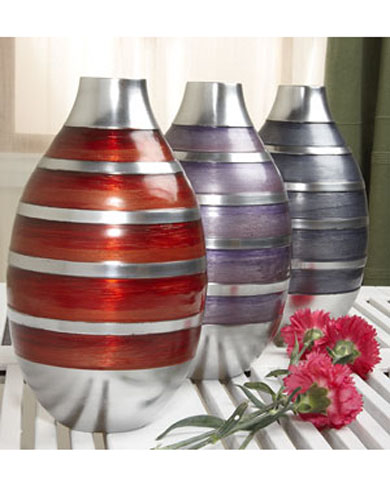 Large Recycled Aluminium Vase