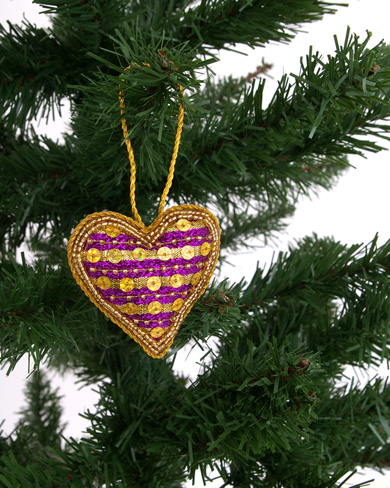 Large Bead and Sequin Christmas Decorations