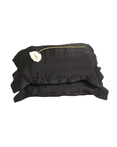 Pair of Silk Mix Oxford Pillow Cases